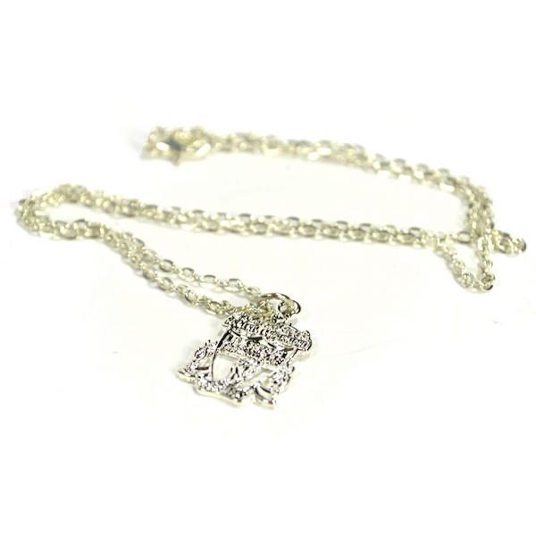 Liverpool Silver Plated Crest Pendant and Chain