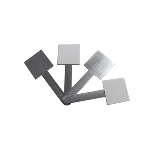 Image of 250 Pack of Small Uncoated Self-Adhesive Cable Management Clips