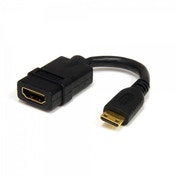 5in High Speed HDMI Cable with Ethernet- HDMI to HDMI Mini- F/M