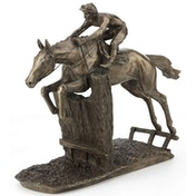 Horse Racing At Full Stretch by David Geenty Cold Cast Bronze Sculpture