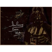 Star Wars Signed Metal 10X8 Dave Prowse As Darth Vader