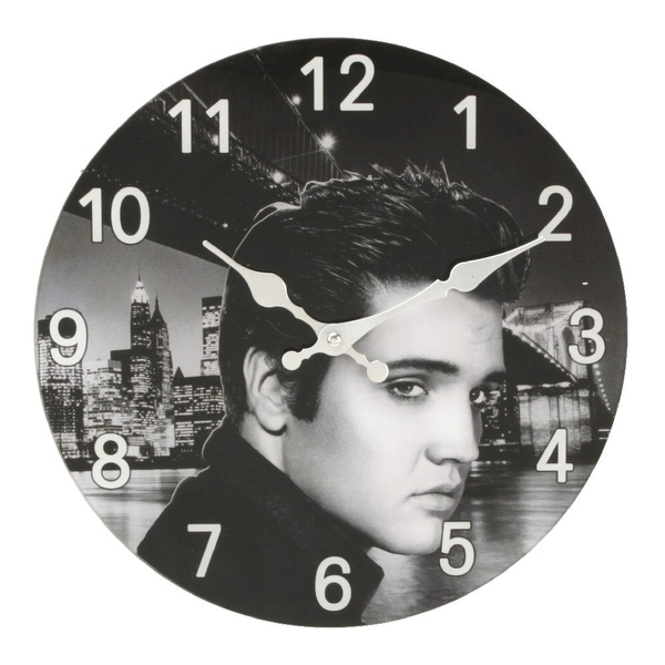 Iconic Collection Glass Wall Clock Elvis Design | 30cm