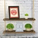 Wooden Hanging Shelf | M&W 2 Tier - Image 2