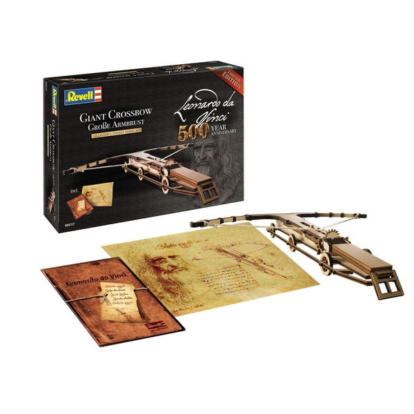 Giant Crossbow Leonardo da Vinci 500th Anniversary Wooden Revell Model Kit