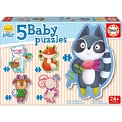 Educa Baby Early Learning Cute little Animals Jigsaw Puzzles 5 Piece Set