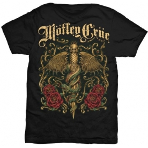 Motley Crue Exquisite Dagger Mens Black T Shirt: Large