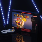 Super Nintendo Super Mario World Light-Up Canvas Artwork