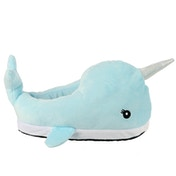 Kawaii Narwhal Pair of Plush Slippers