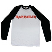 Iron Maiden Logo Men's Raglan: X Large