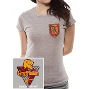 Harry Potter - House Gryffindor Women's Medium T-Shirt - Grey