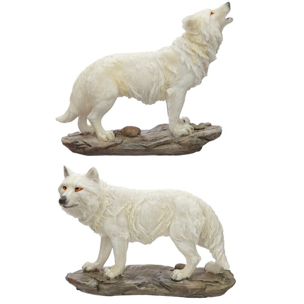 Protector of the North Spirit of the Night Wolf Figurine