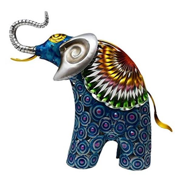 Country Living Hand Painted Metal Elephant 28cm