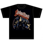 Judas Priest Unleashed v2 Mens Black TShirt: X Large
