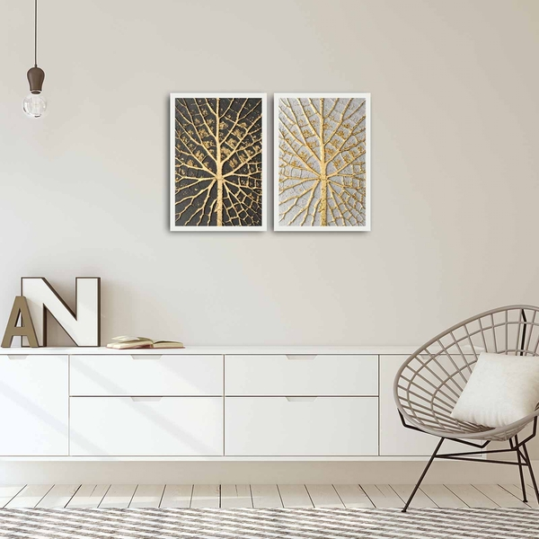 2PBCT-05 Multicolor Decorative Framed MDF Painting (2 Pieces)