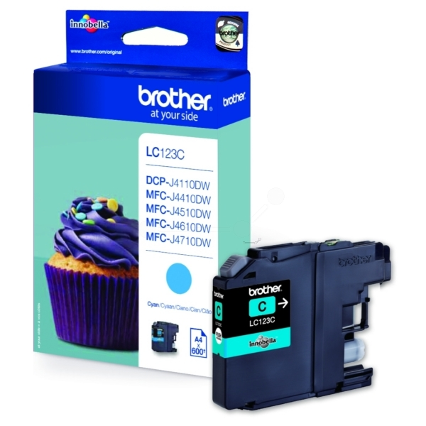 Brother LC-123C Ink cartridge cyan, 600 pages, 8ml