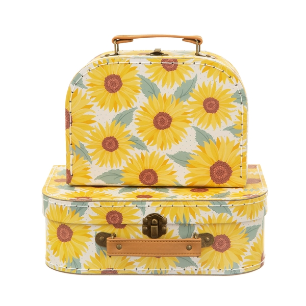 Sass & Belle Sunflower (Set of 2) Suitcases