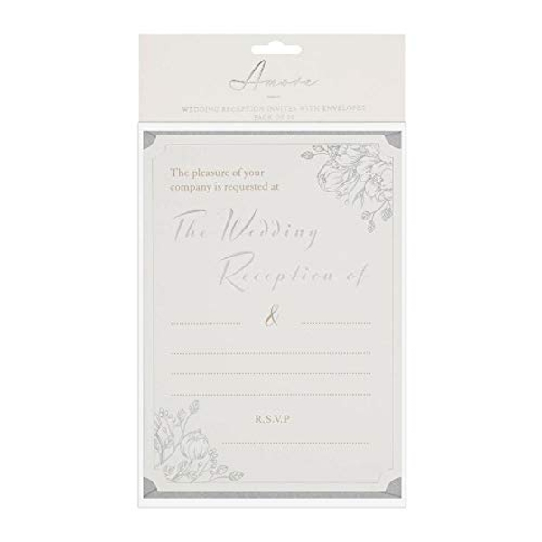 AMORE BY JULIANA? Wedding Reception Invites - Pack of 20