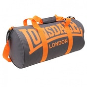 Lonsdale Barrel Bag Charcoal & Orange