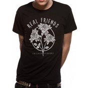 Real Friends - Flowers Men's Large T-Shirt - Black