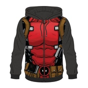 Deadpool - Sublimation Men's Small Full Length Zipper Hoodie - Multi-colour