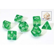 Sirius Dice - Translucent Green Poly Set