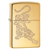 Zippo Tattoo Tiger Design Brass Regular Windproof Lighter