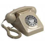GPO 746 Push Button Retro Telephone with Authentic Bell Ring Ivory