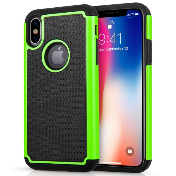 Compare prices with Phone Retailers Comaprison to buy a Apple iPhone X Mesh Combo Case - Green