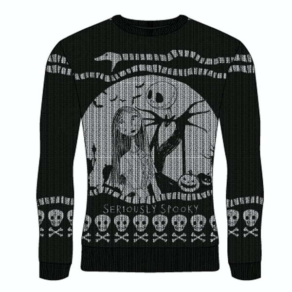 Image of Nightmare Before Christmas - Seriously Spooky Unisex Small Knitted Jumper - Multi-Colour