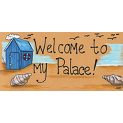 Welcome To My Palace Smiley Sign Pack Of 12