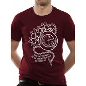 Lower Than Atlantis - Clock Unisex Medium T-Shirt - Red
