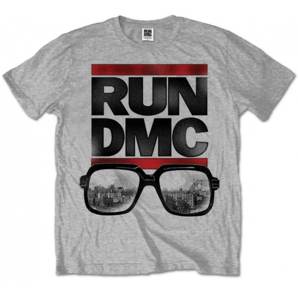 Run DMC Glasses NYC Grey Mens T Shirt: Large