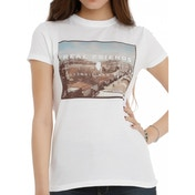 Real Friends - Illinois Bad Boys Womens Fitted Medium T-Shirt - White