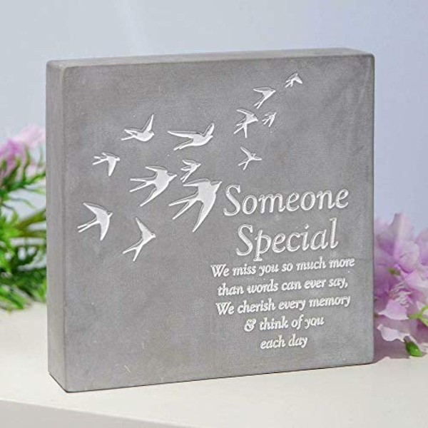 Thoughts Of You Smooth Concrete Plaque - Someone Special