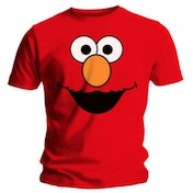Sesame Street Elmos Face Mens Small T Shirt - Red