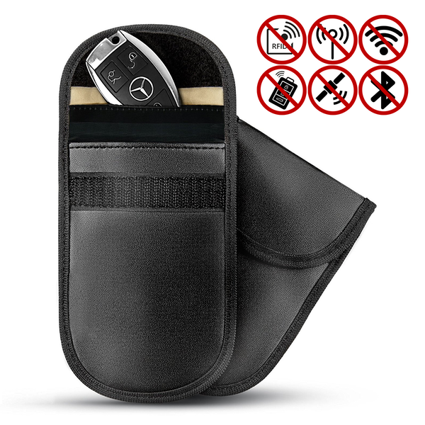 Car Key Anti-Theft Signal Blocker Pouch - Set of 2 | Pukkr - Image 1