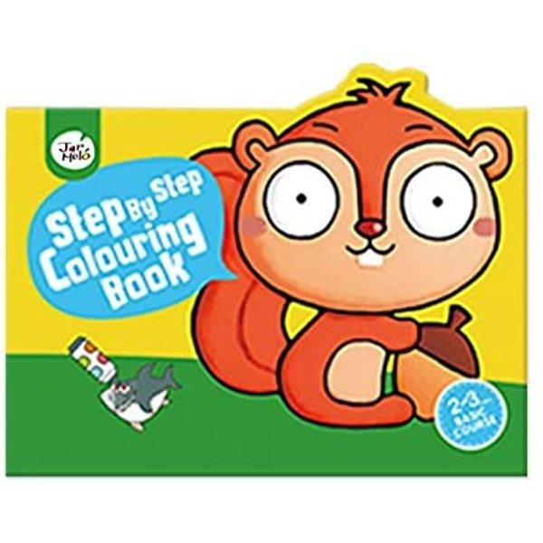 Basic Step By Step Colouring Book Basic (2-3 Years)