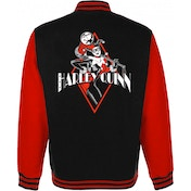 Harley Quinn - Diamond Women's X-Large Varsity Jacket - Black