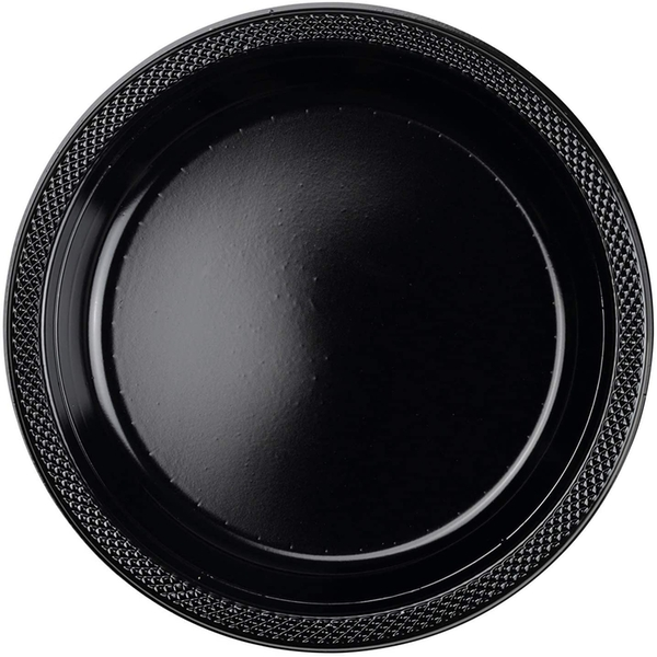Disposable Plates Plastic Black (Pack Of 10)