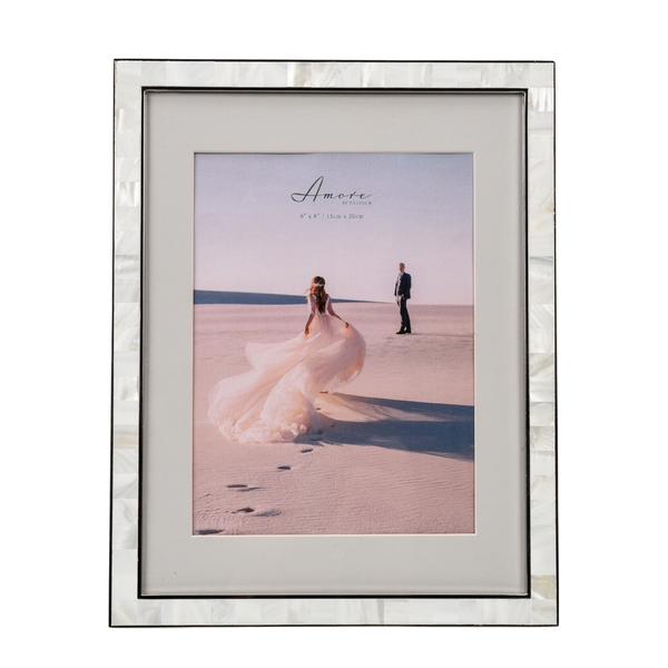 """Mother of Pearl Photo Frame 6"""" x 8"""" or 8"""" x10"""" Without Mount"""