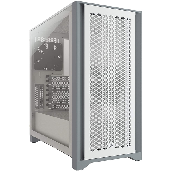 Image of Corsair 4000D Airflow Gaming Case w/ Tempered Glass Window, E-ATX, 2 x AirGuide Fans, High-Airflow Front Panel, USB-C, White