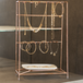 Rose Gold Jewellery Stand with Ceramic Dish | M&W - Image 4