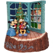 Carved by Heart Mickey Mouse Christmas Carol Disney Traditions Figurine