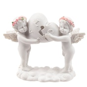 Rose Cherubs Love Heart Puzzle Ornament