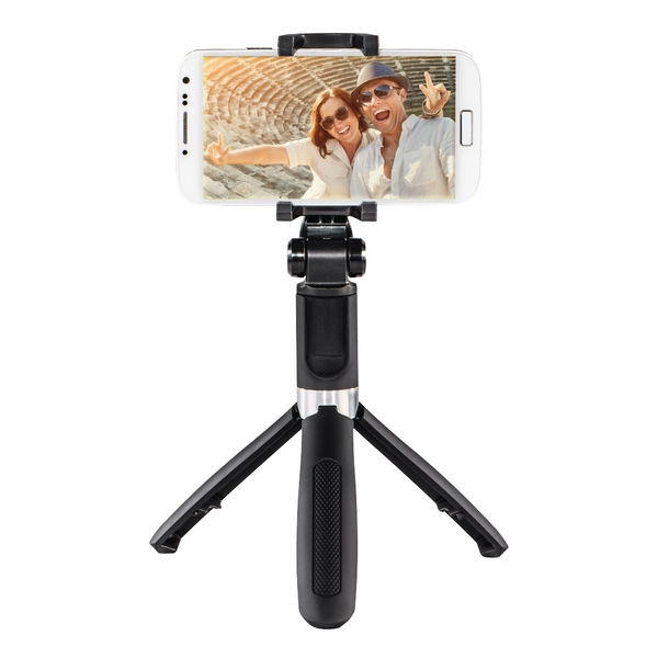 Hama Funstand 57 Selfie Stick with Bluetooth Remote Trigger black