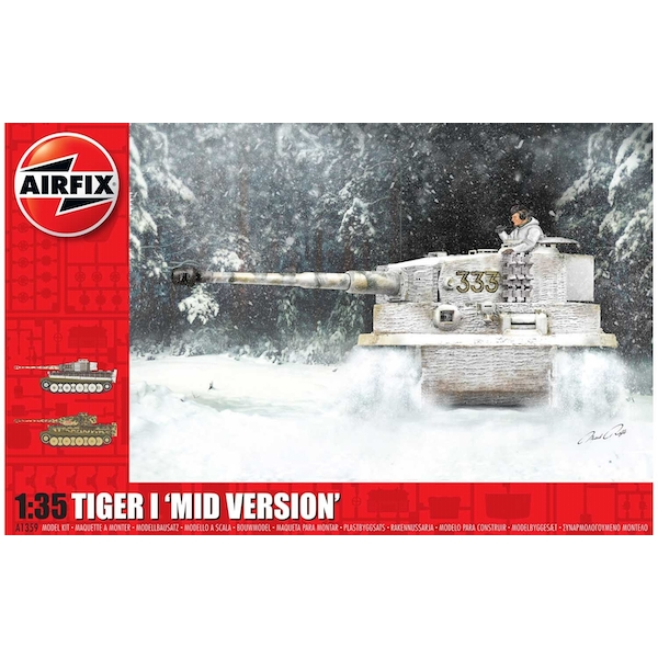 Tiger-1 Mid Version 1:35 Tank Air Fix Model Kit