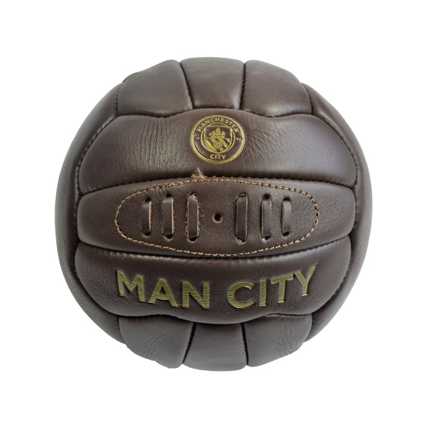 Man City Retro Heritage Leather Ball Size 5