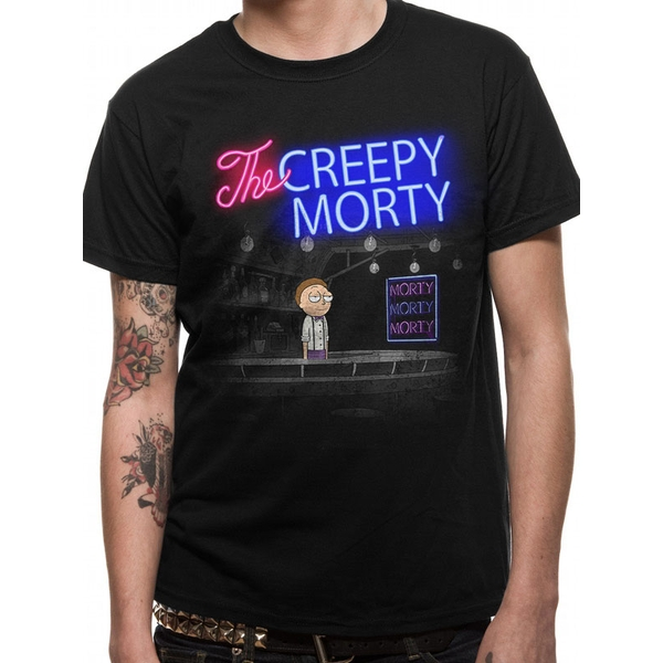 Rick And Morty - Bartender Morty Men's Small T-Shirt - Black