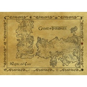 Game Of Thones - Antique Map Postcard