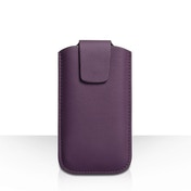 YouSave Accessories Lychee Leather-Effect Pouch (M) - Purple